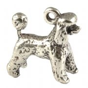 Minature Poodle Dog 3D Sterling Silver Charm
